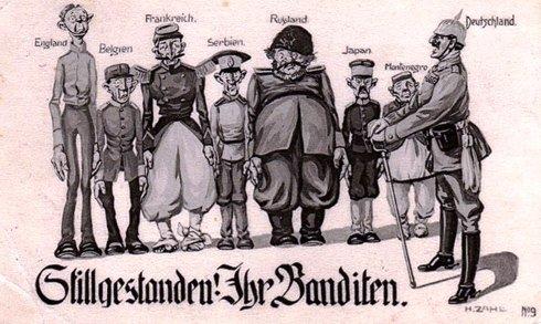 Caricature propagandiste en 1914-1918 dans Actualité caricature-Guerre-1914-1918
