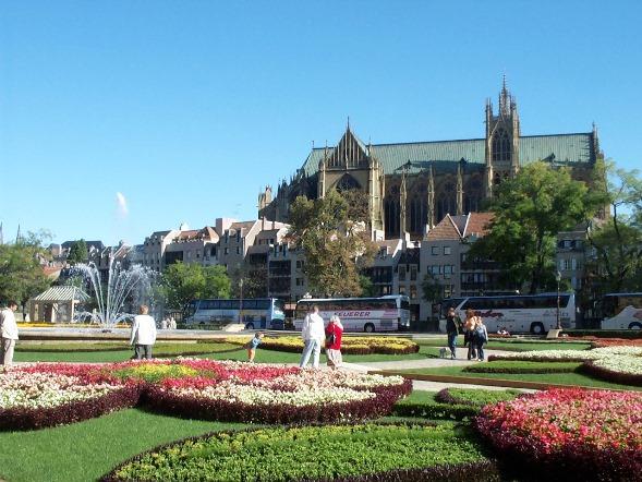 Metz fleurissement, Place Comédie