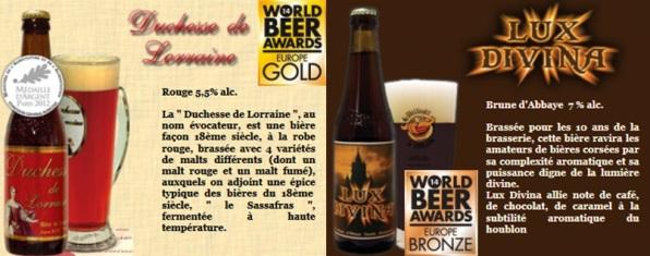 bières médailles Brasseurs de Lorraine