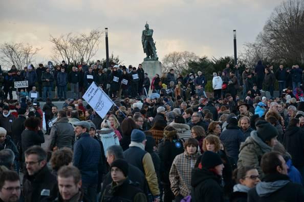 Manifestation Charlie Hebdo Metz 2