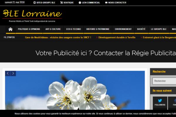 nouveau site internet BLE Lorraine